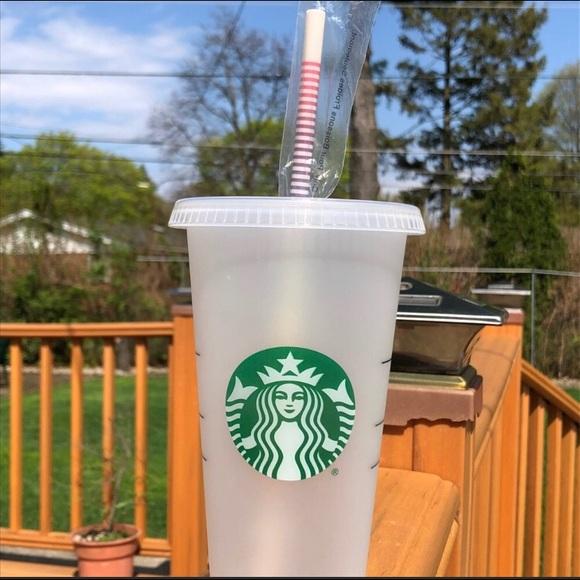 Starbucks Other - NEW Venti Starbucks Reusable Tubler w/ RARE straw